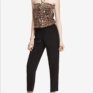 Small Express leopard/Black jumpsuit/long romper